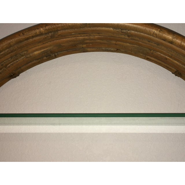 Mid Century Paul Frankl Large 7-Strand Bamboo Rattan Circular Wall Shelf Unit For Sale In Denver - Image 6 of 12