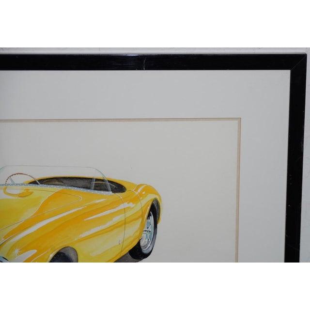 1990s Classic Yellow Ferrari Original Watercolor by Stan Petersen C.1993 For Sale - Image 5 of 10