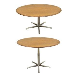 Vintage Adjustable Mid Century Modern Walnut Coffee Dining Table George Nelson Eames