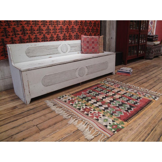 A sweet little tribal kilim from Western Turkey with great colors and design.
