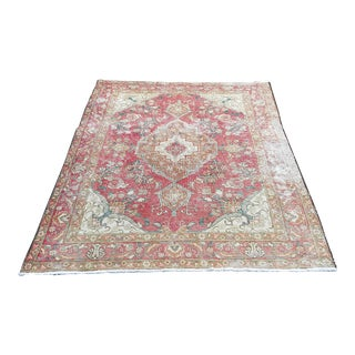 1950's Turkish Handmade Oushak Rug-4′6″ × 6′4″ For Sale