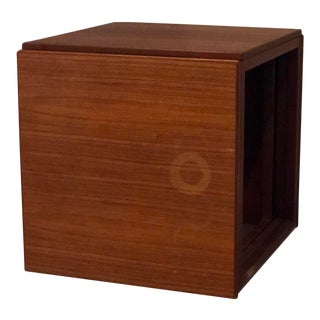 1960s Danish Modern Kai Kristiansen Teak Cube Nesting Tables - Set of 3 For Sale