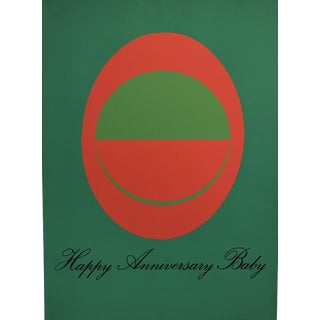 Original 1976 Vittorio Limited Edition Poster, Happy Anniversary Baby For Sale