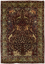 Image of Ruby Red Traditional Handmade Rugs