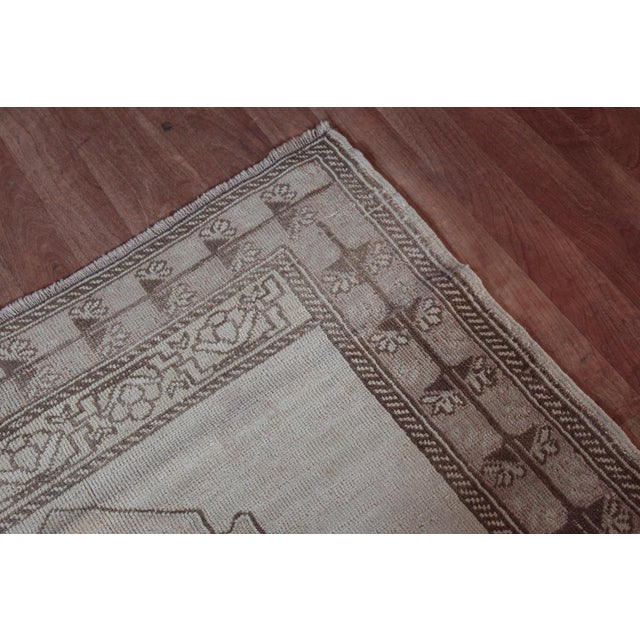 """Vintage Turkish Muted Wool Rug - 3'11"""" x 5'10"""" For Sale In Baltimore - Image 6 of 11"""