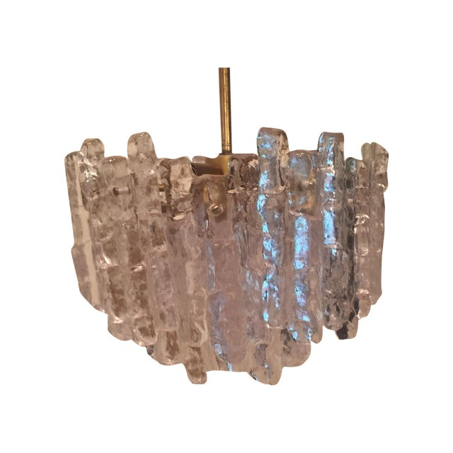 Vintage Kalmar Ice Block Chandelier For Sale