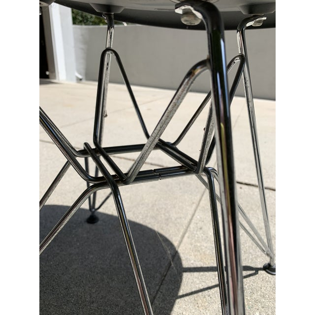 Metal Black Eames Molded Plastic Side Chairs- Set of 4 For Sale - Image 7 of 9