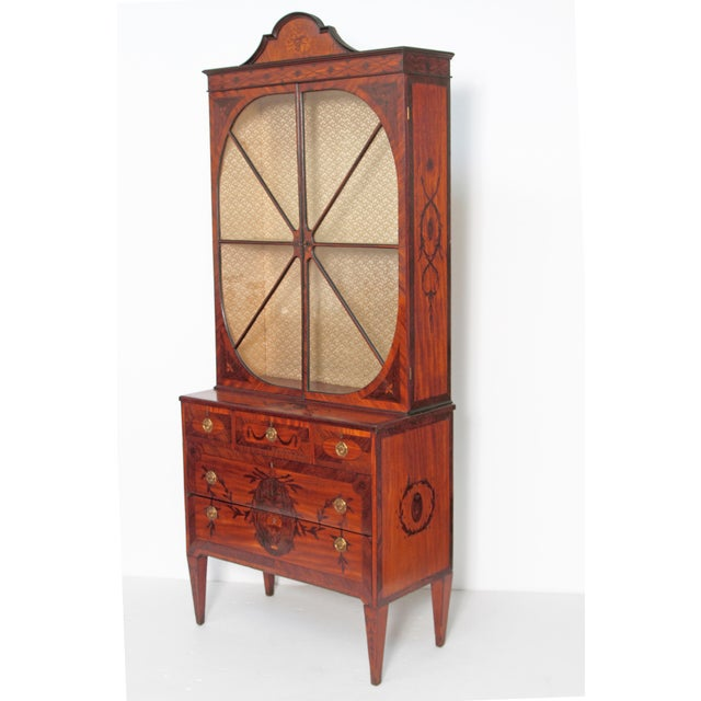Georgian George III Satinwood and Inlaid Bookcase Attributed to Gillows For Sale - Image 3 of 13