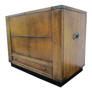20th Century Brandt Campaign Style Mini Dry Bar For Sale