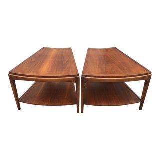 1960s Mid-Century Modern Lane Altavista Wedge Style Side Tables - a Pair For Sale