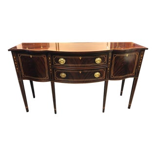 1990s Traditional Stickley Mahogany Serpentine Sideboard For Sale