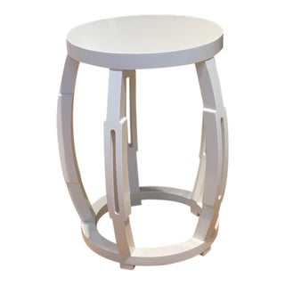 Bungalow Tabouret Stool in White For Sale