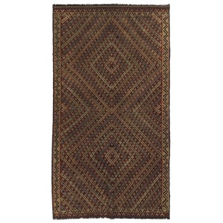 Rug & Relic Vintage Turkish Embroidered Tobacco-Dyed Kilim | 3'6 X 6'6 For Sale