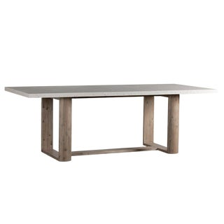 Terrazzo & Acacia Dining Table For Sale