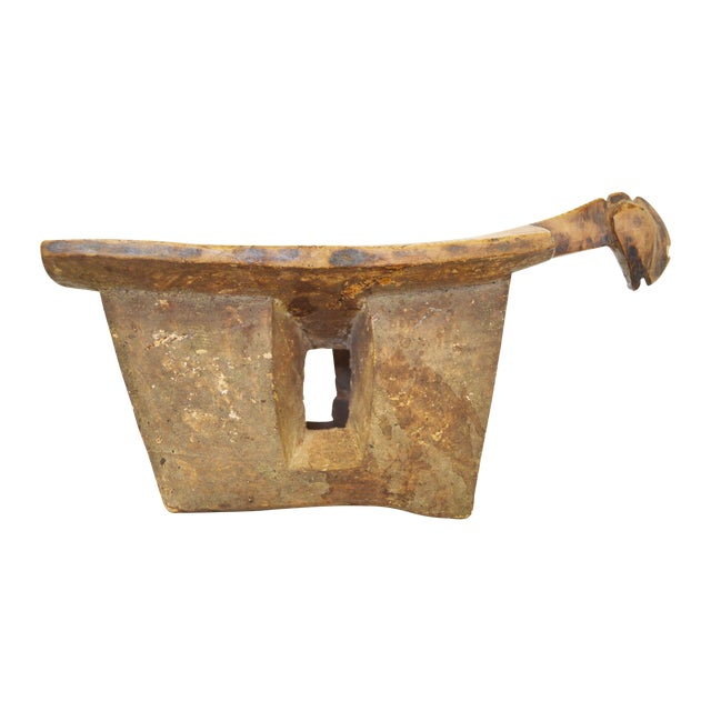 African Lobi Tribe Hand Carved Wooden Stool - Image 1 of 10