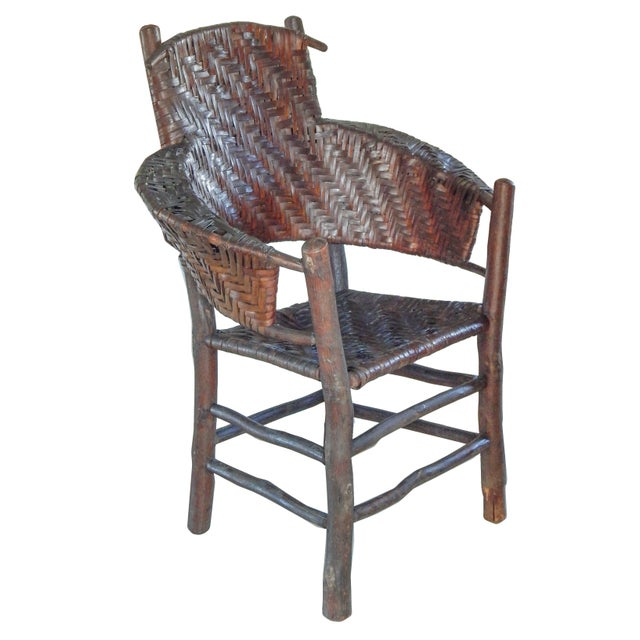 Late 19th Century Old Hickory Armchair For Sale - Image 5 of 10