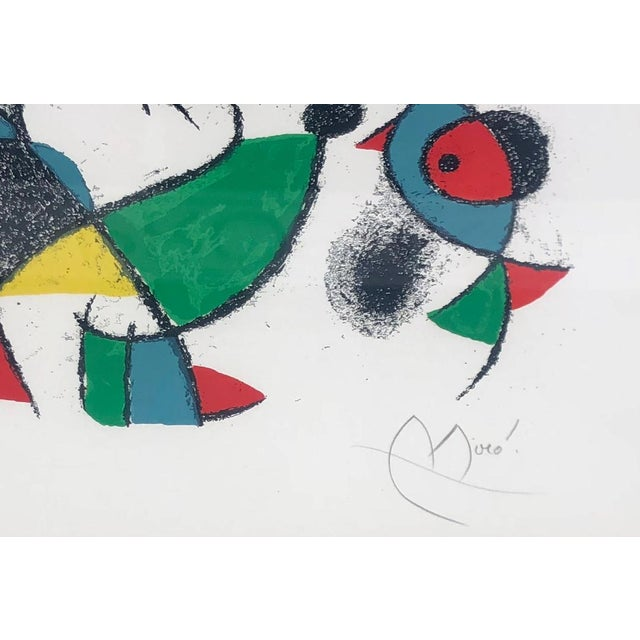 Rare Mid-Century Modern Lithograph by Joan Miro c. 1975 Lithographs II - Plate 10. Numbered 14 out of an edition of only...