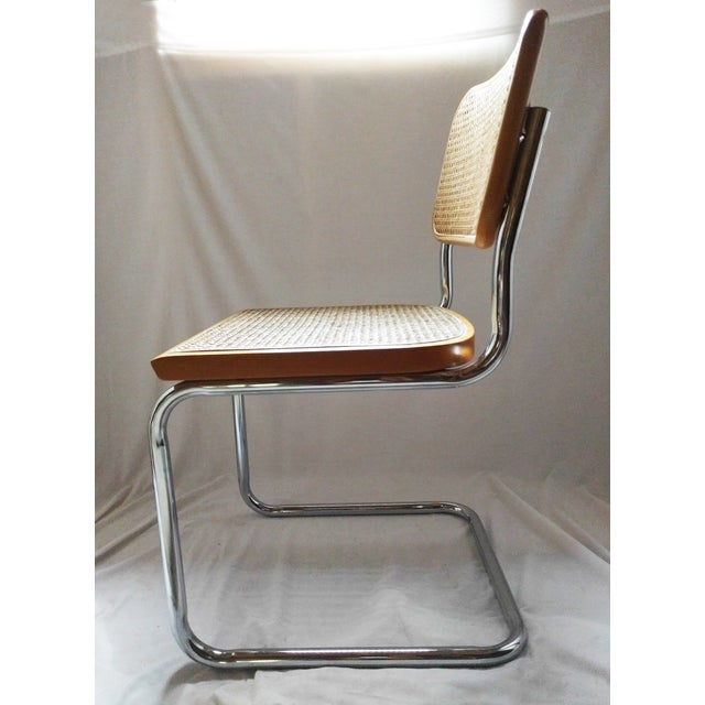 Vintage Marcel Breuer Style Chrome & Cane Chair - Image 4 of 7