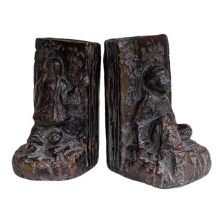 Asian Figural Chinoiserie Bookends - a Pair For Sale