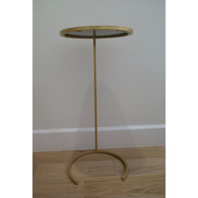 Gold U Shaped Base With Mirrored Top Side Table - Image 3 of 3