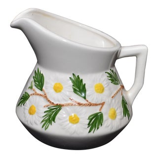 1971 Hand Painted Daisy Milk Pitcher For Sale