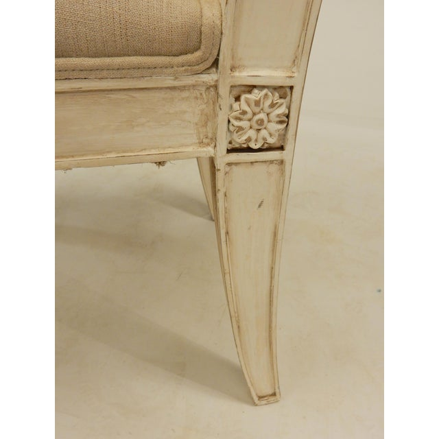 1990s Four Painted Directoire Style Side Chairs For Sale - Image 5 of 7