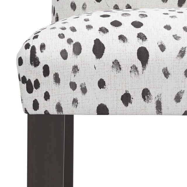 Not Yet Made - Made To Order Bar stool in Linen Leopard Ink For Sale - Image 5 of 8