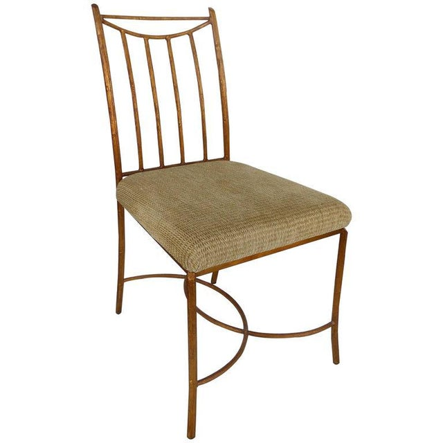 Mid-Century Gilt Iron Faux-Bois Desk Chair by Swaim For Sale - Image 10 of 10