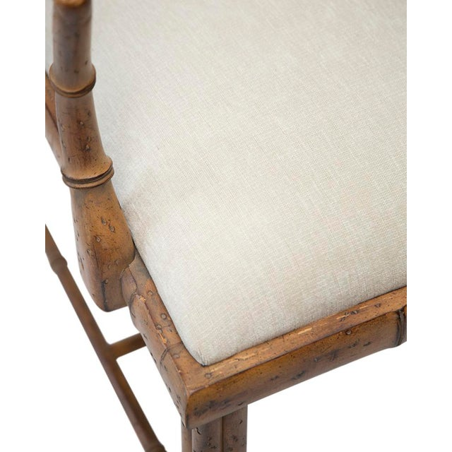 1970's Chinoiserie Chippendale Bamboo Side Chair - Image 4 of 4