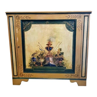 Early 20th Century Venetian Gilt Painted Corner Cabinet For Sale