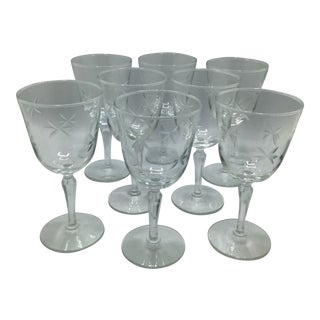 Vintage Libby Candlelight Water Goblets - Set of 8 For Sale