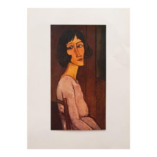 "1958 Amedeo Modigliani, First English Edition Lithograph ""Portrait of Marguerite"""