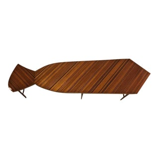 Jonathan Charles Tie Shaped Inlaid Coffee Table For Sale