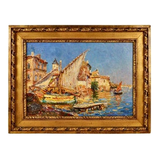 French Impressionist Painting by Julien G. Gagliardini For Sale