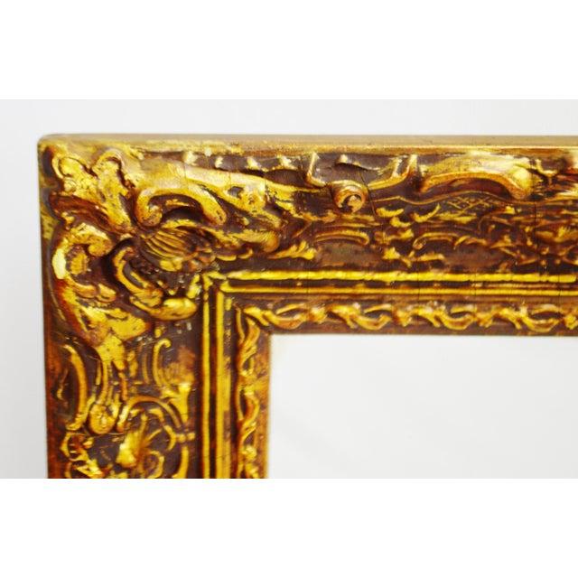 Vintage 1964 Gold Gilt Gesso Framed Wall Mirror - Image 3 of 9