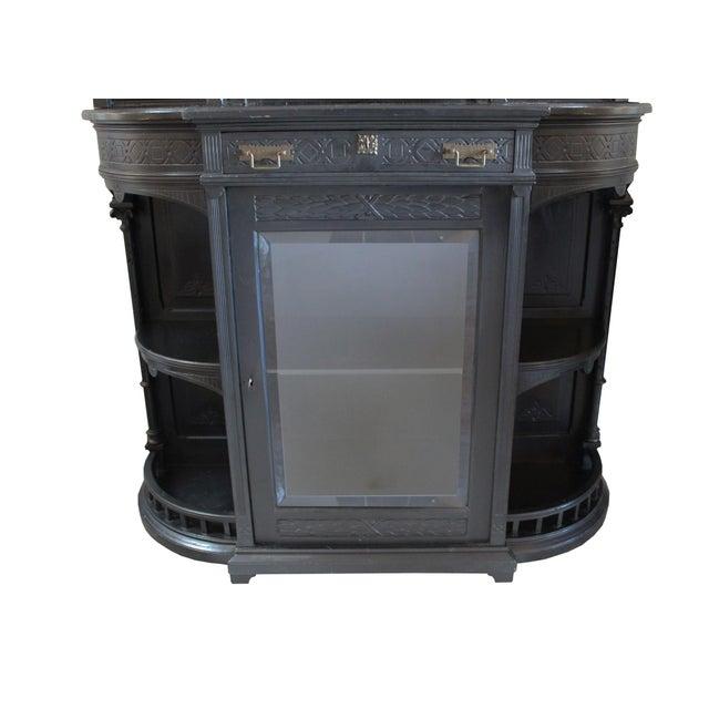Ebonized Victorian Cabinet - Image 4 of 4