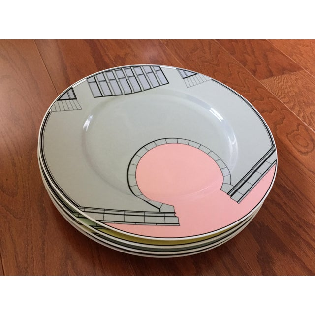 1980s 1980s Pastel Modern Chargers - Set of 5 For Sale - Image 5 of 13
