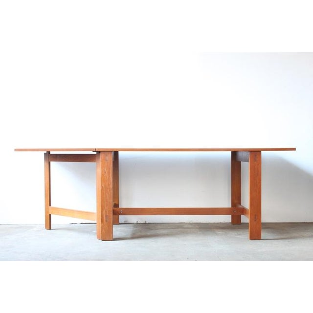 Mid-Century Swedish Drop Leaf Teak Dining Table - Image 3 of 8