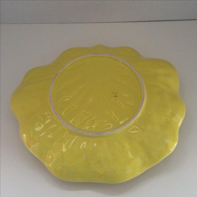 Yellow Lettuce Ware Dip Serving Platter - Image 6 of 6