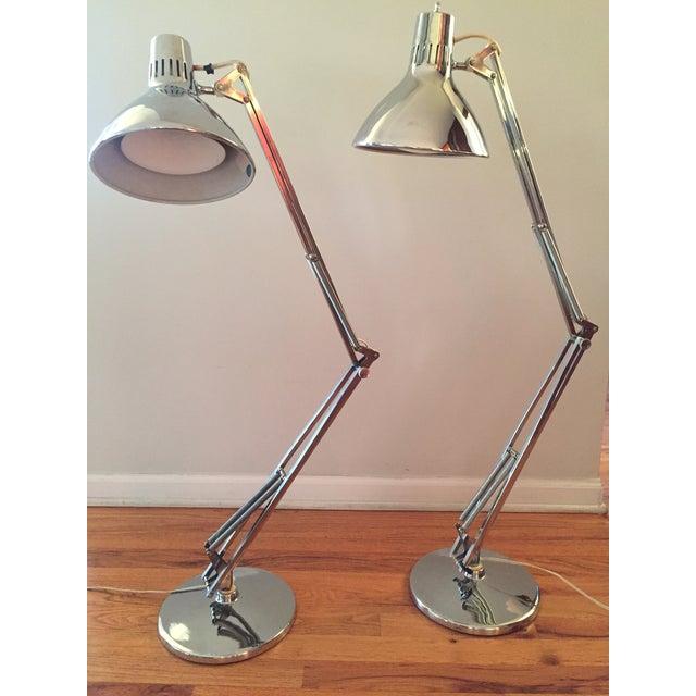 Fabulous Vintage Luxo Articulated Chrome Desk Lamps - A Pair | Chairish GP34