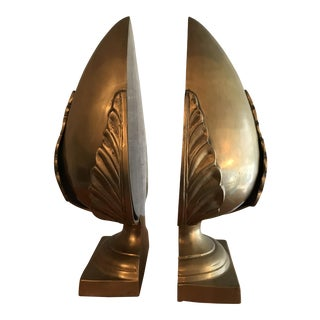 Brass Acorn Bookends - a Pair For Sale