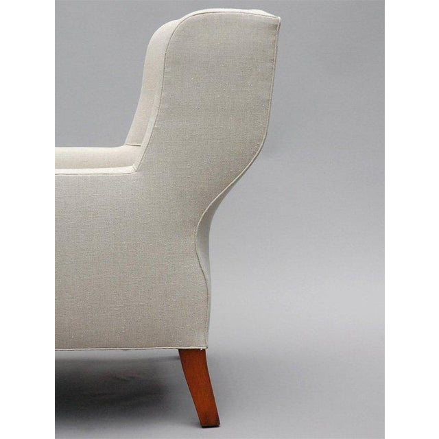 "Textile ""Selby"" by Lee Stanton Armchair Upholstered in Belgian Linen or Custom Fabric For Sale - Image 7 of 10"
