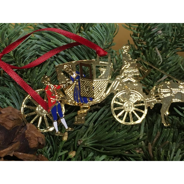 Metal Horse & Carriage Christmas Tree Ornament For Sale - Image 7 of 8