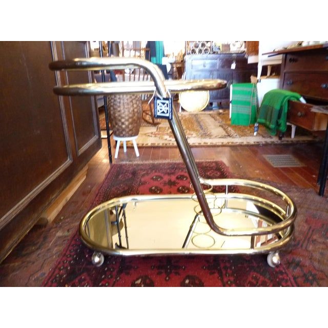 Vintage Baughman Style Bar Cart - Image 7 of 11