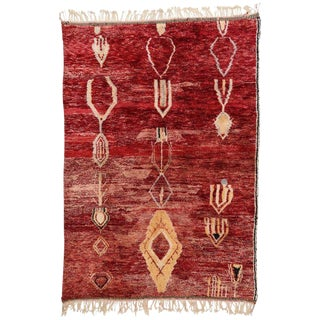 Modern Berber Moroccan Rug - 6′10″ × 9′9″ For Sale