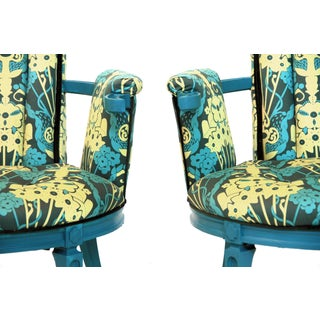 1940s Vintage Art Nouveau Accent Chairs - a Pair Preview