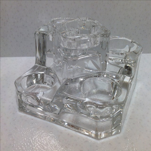 Clear Glass Tea Light Candle Holder - Image 2 of 4