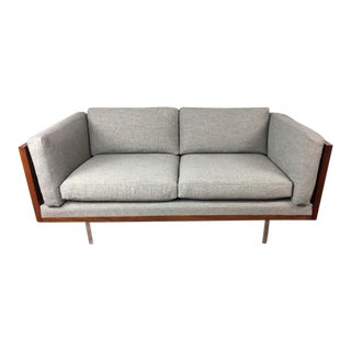 Komfort of Denmark Rosewood Wrapped Lowback Loveseat