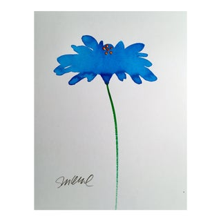 """Botanical Bright Blue"" Original Watercolor Painting"