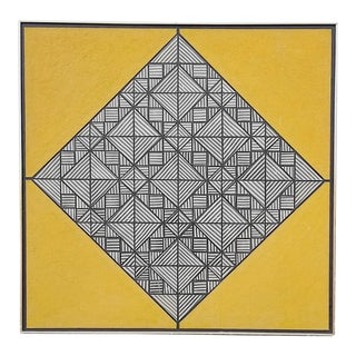 Op Art Painting 1965 by Ferdinand deVito For Sale